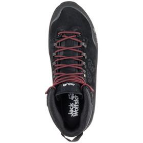 Jack Wolfskin Wilderness Peak Texapore Chaussures Homme, black/red
